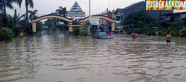 Salah satu perumahan yang kerap langganan banjir.(dok)