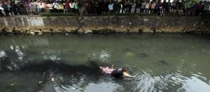 Mayat mengambang di Kalimalang.(dok)