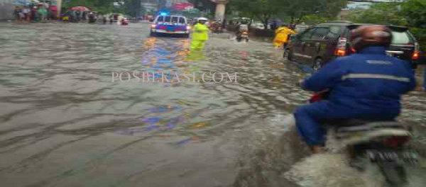 Genangan air di Bekasi.(dok)