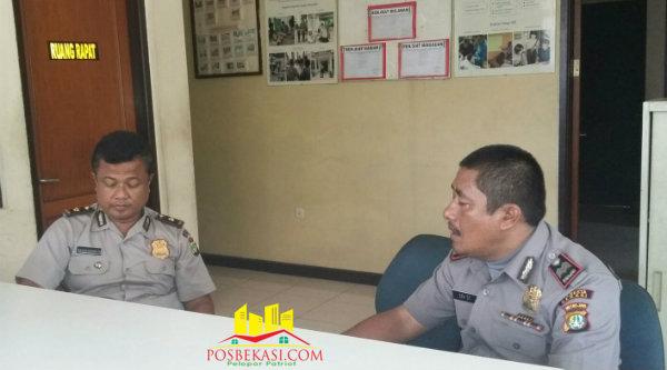 Kompol Basuki Raharjo bersama Kepala BKPM PGPM Aiptu Edy Sitorus.[Sah]