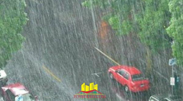 Hujan di Bekasi.[Dok]