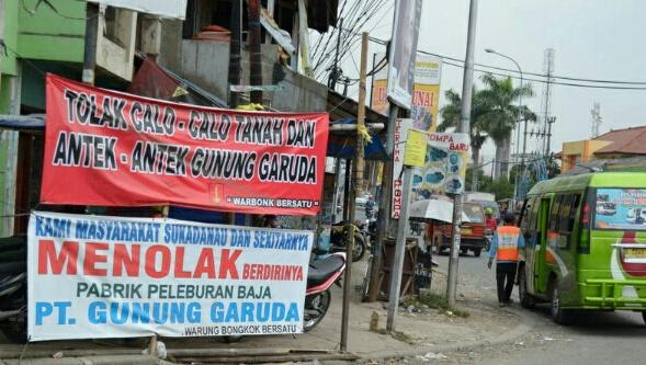 Masyarakat sekitar menolak kehadiran PT Gunung Garuda yang mengelola peleburan baja.[DOK]