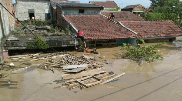 Banjir di Jatiasih.[IST]