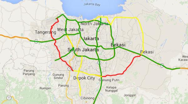Peta pembangunan Tol Cimanggis-Cibitung.[IST]