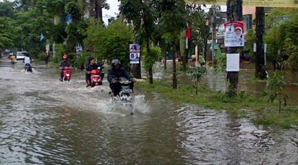 Banjir melanda Perumahan Naronggong Indah.[DOK]