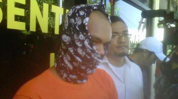 Hermanto pelaku pembunuhan Nurdin guru SMKN 33 Kelapa Gading Jakarta.[IST]