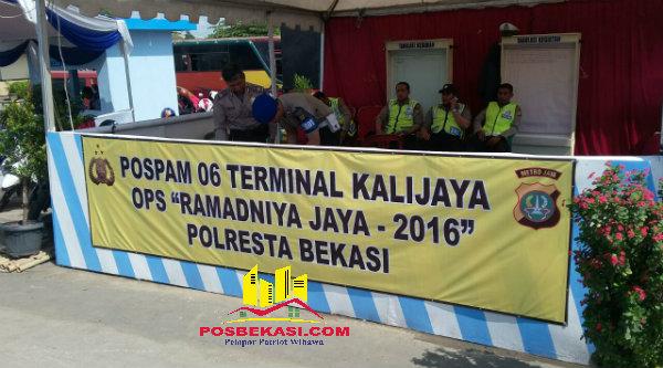 Posko Mudik di Terminal Kalijaya.[RAD]