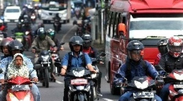 Pemudik pengendera sepeda motor.[DOK]