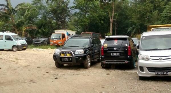 Tempat penampungan kenderaan yang di tilang dikawasan Polantas Teluk Pucung, Bekasi Utara, Kota Bekasi.[HSB]
