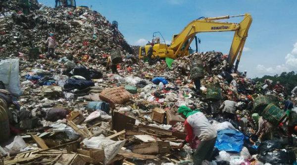Sampah di TPST Bantargebang.[DOK]