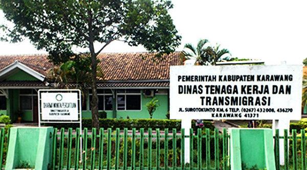 Dinas Tenaga Kerja dan Transmigrasi Karawang.[DOK]