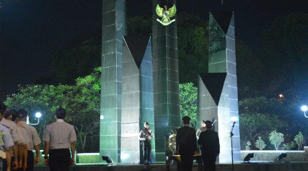 Renungan suci memperingati 17 Agustus di TMP Bulak Kapal, Kota Bekasi.[IDH]