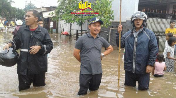 Banjir melanda Perumahan GMM.[IMA]