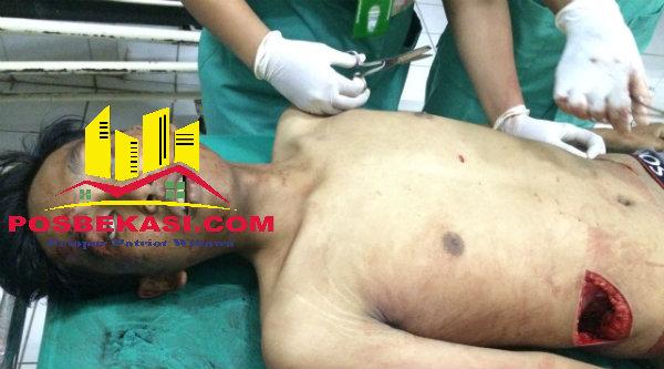 Korban tewas tawuran antar pelajar di Tambun.[IST]