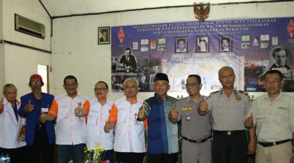 Walikota Bekasi, Rahmat Effendi, saat membuka acara Musyawarag Lokal ke XI ORARI Lokal Bekasi, Minggu 2 Oktober 2016.[ISH]
