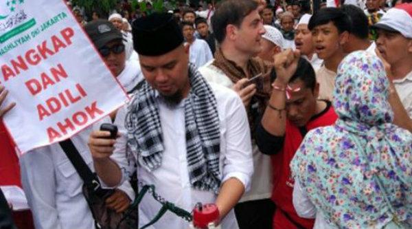 Ahmad Dhani saat Aksi bela Islam II di Jakarta, Jumat 4 Nopember 2016.[IST]