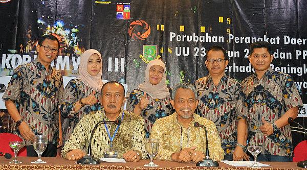 Wakil Walikota Bekasi H Ahmad Syaikhu pada pembukaan Rakorkomwil III Apeksi di Kota Salatiga.[ISH]