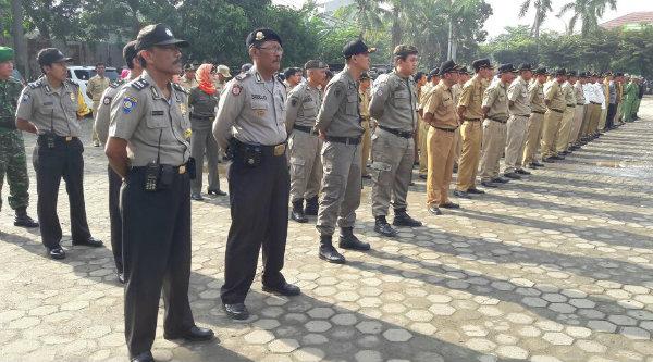 Apel Tiga Pilar Kecamatan Jati Asih, Kota Bekasi.[ISH]