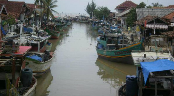 Kampung nelayan.[IST]