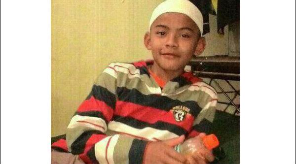 Muhammad Riyan, 12 tahun, mengaku tinggal di Kota Legenda Tambun, Tambun Selatan, Kabupaten Bekasi.[IST]