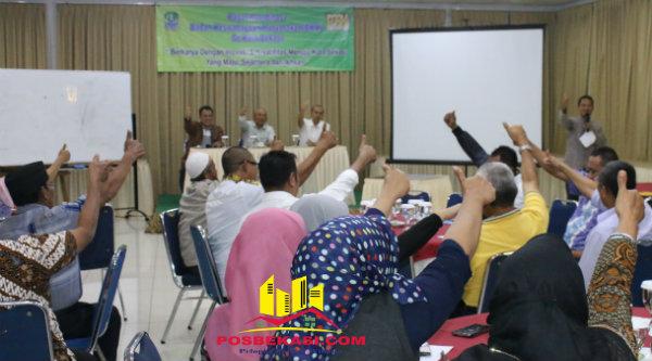 Walikota Bekasi, Rahmat Effendi, pimpin Rapat Koordinasi yang diselenggarakan oleh Badan Keswadayaan Masyarakat (BKM) Kota Bekasi, Jumat 16 Desember 2106.[BEN]