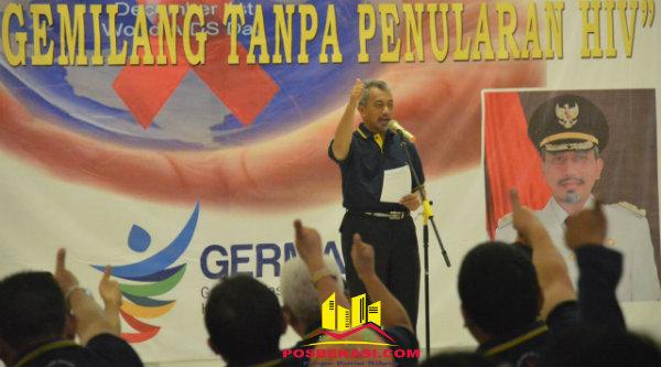 Wakil Walikota Bekasi H Ahmad Syaikhu membuka gebyar peringatan Hari AIDS Sedunia, Kamis 1 Desember 2016.[ISH]