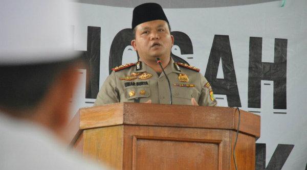 Kapolres Metro Bekasi Kota Kombes Pol Umar Surya Fana.[BEN]