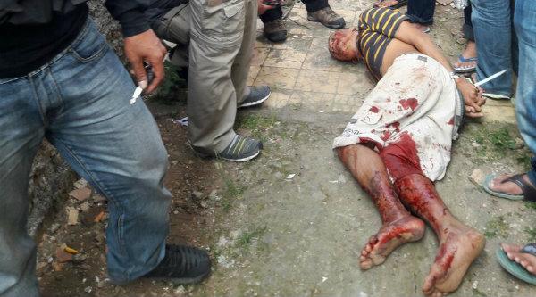Erwin Situmorang komplotan rampok sadis Pulo Mas terkapar ditembak polisi.[IST]