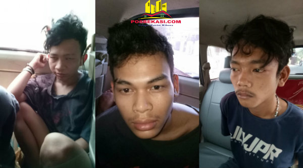 Tiga remaja pelaku pengeroyokan remaja di Jatiasih yang diringkus polisi.[EZI]