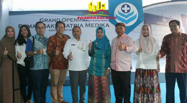 Walikota Bekasi, Rahmat Effendi, pada acara grand opening RS Satria Medika, Mustika Jaya, Rabu 22 Februari 2017.[BEN]