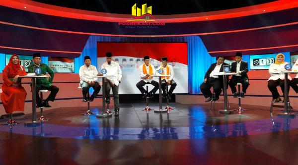 Debat lima pasangan calon Bupati Bekasi, Senin 6 Pebuari 2017.[HSB]