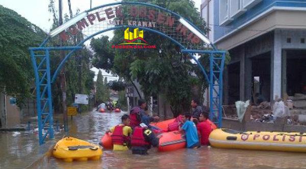 Banjir Komplek Dosen IKIP Kota Bekasi.[DOK]