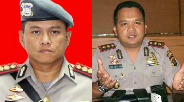 Kombes Pol Hero Henrianto Bachtiar dan Kombes Pol Umar Surya Fana.[IST]