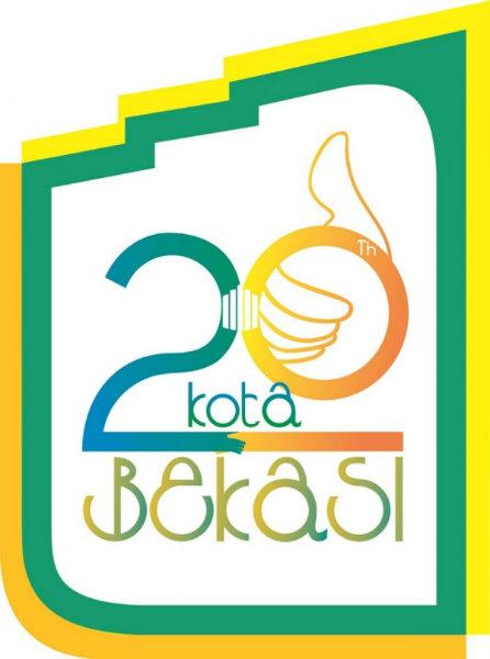 Logo HUT Kota Bekasi ke-20