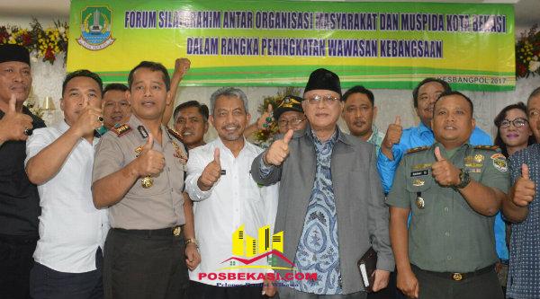 Ormas bersama Muspida Kota Bekasi sepakat jaga Kandisifitas.[ISH]