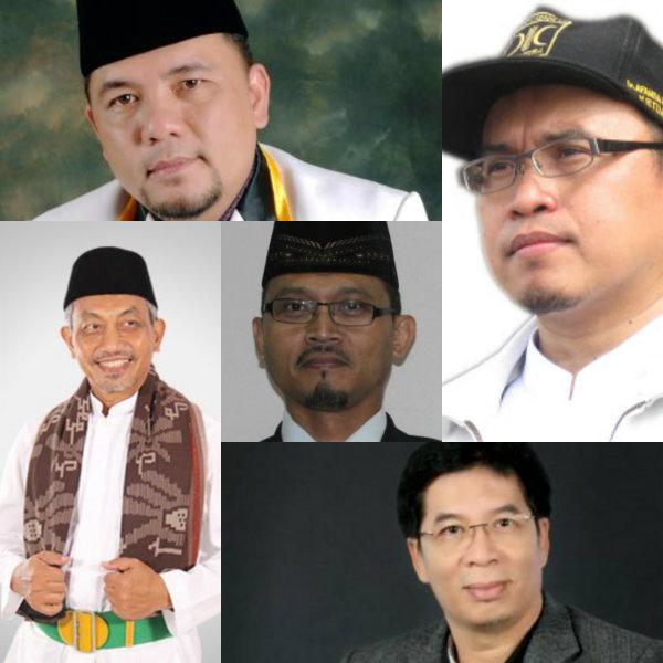 Searah jarum jam: Heri Koswara, Affanda Kristaldi, Nur Supriyanto, Chairoman J Putro dan Ahmad Syaikhu