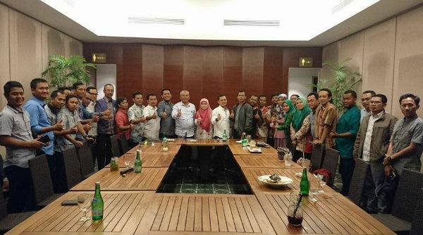 Walikota Bekasi Rahmat Effendi silaturahmi dengan KAHMI Kota Bekasi.[ISH]