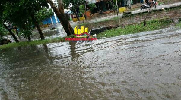 Banjir di Perumahan Narogong.[IST]