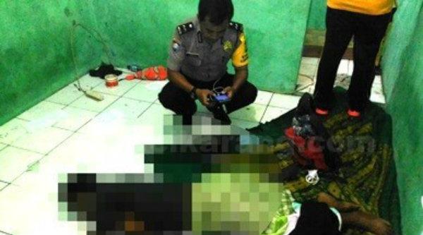Mayat Salam ditemukan tidak bernyawa di rumah kontrakan Kampung Tegaluhur, Cikarang Selatan.[IST]