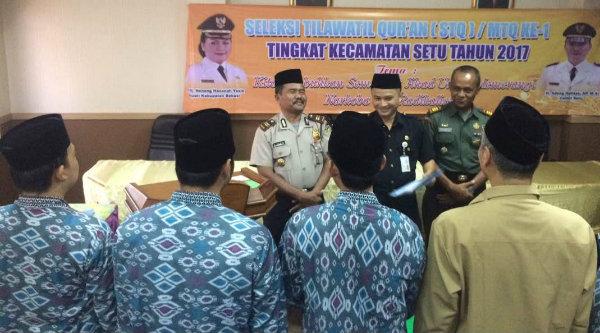 Pembukaan seleksi TQ ke-1 Kecamatan Setu, Selasa 16 mei 2017.[MIN]