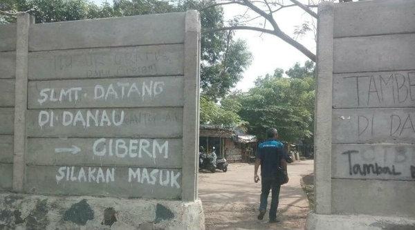 Akses ke lokasi Situ Ciberum tidak lagi dapat dimasuki kenderaan roda empat.[Bosang Pun Berkata]