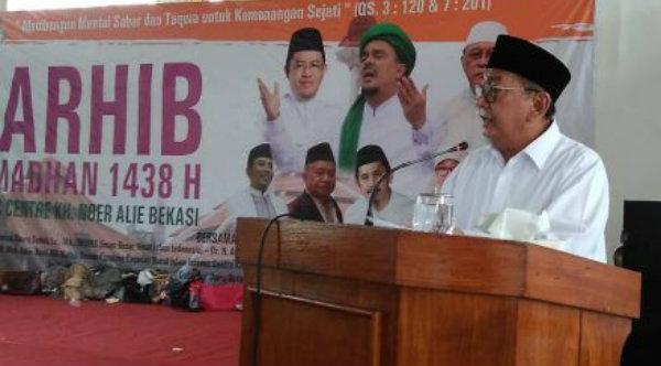 Wakil Gubernur Jawa Barat Deddy Mizwar pada acara Tarhib Ramadhan di Islamic Center Kota Bekasi, Selasa 16 Mei 2017.[IST]