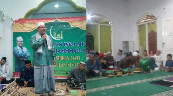 Ketua Panitia Suasan Isra Mi'raj Ustadz Agus Sopyan.[RIK]