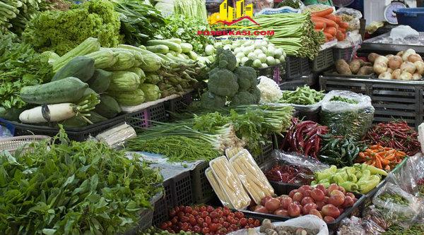 Aneka sayuran yang dijual di psar tradisional.[DOK]