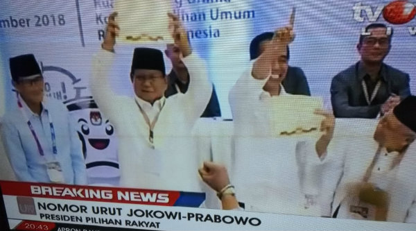 1 Jokowi-Kiai Ma'ruf, 2 Prabowo-Sandi, Ini Arti Nomor Urut
